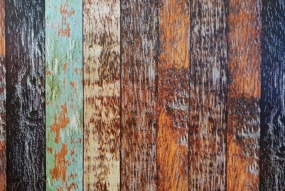 Business showcase, wood floor boards in various colors