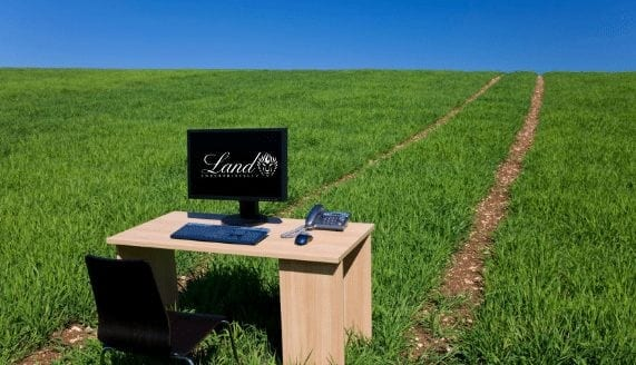 Home, Land Enterprises, LLC, desk outside, office space with clear sky
