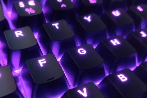 monster.com, purple keyboard